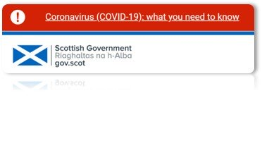 Scot.gov information and guidance for COVID19 in Scotland